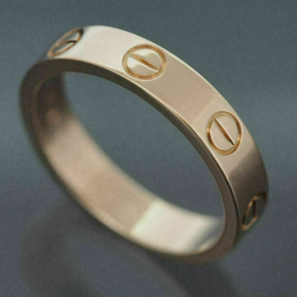 Cartier Wedding Band.Details About Cartier 18k Rose Gold Love Wedding Band Ring With Certificate And Box 49 Us 4 75