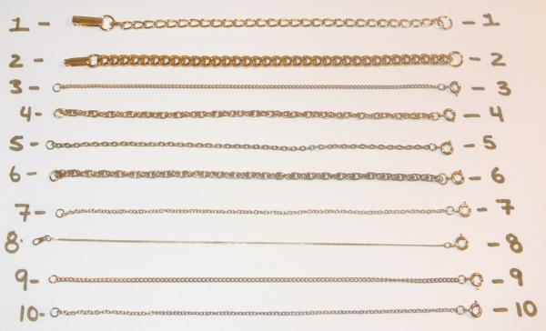 Vintage 7 Yellow Gold Chain Tennis Bracelets Filled Plated 1o Different Links Ebay