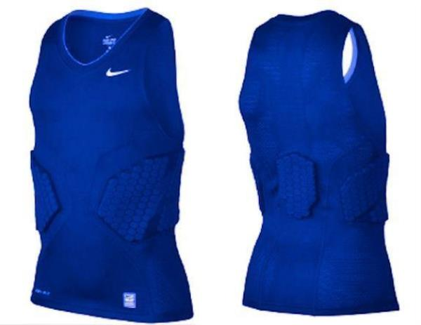 b39142fb483a80 Details about NIKE Pro Combat Deflex 2.0 Padded Blue Basketball Compression  Tank Top Mens 2XL