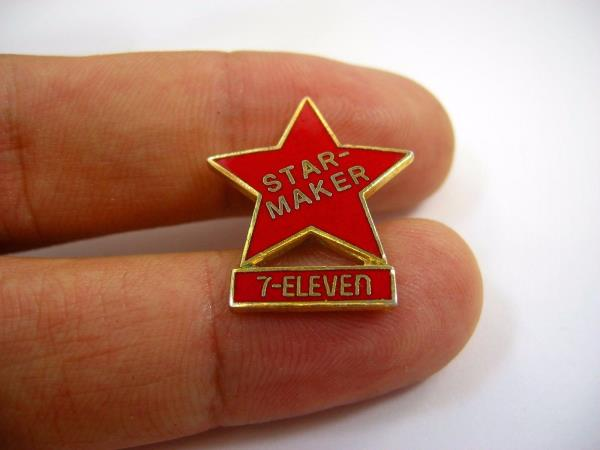 Vintage Collectible Pin: Star-Maker 7-Eleven Red Enamel | eBay