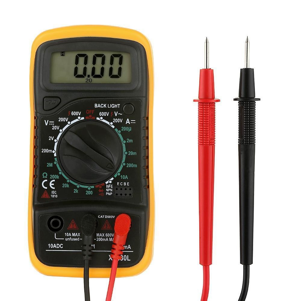 lcd digital multi meter voltmeter ammeter stand ac dc ohm current