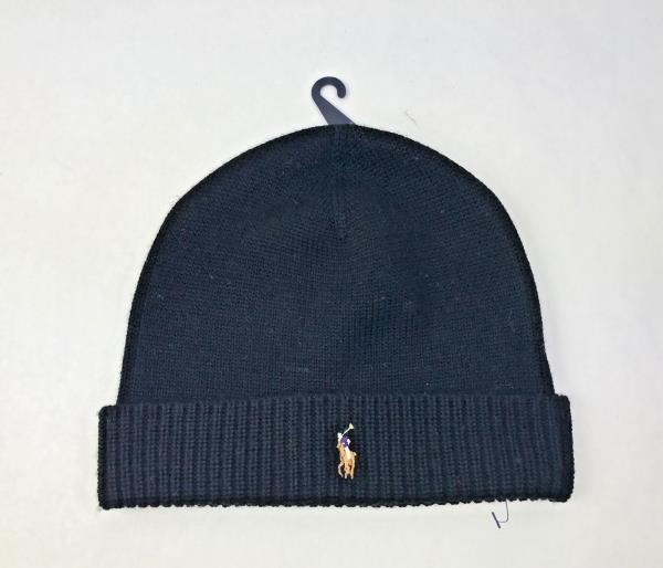 8558d802b5d Details about Polo Ralph Lauren Merino Wool Knit Beanie Hat in Polo Black -  One Size - NWOT