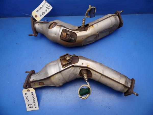 0306 Infiniti G35 Oem Left Right Side Exhaust Pipes Pipings Stock Factory: 2005 Infiniti G35 Exhaust At Woreks.co