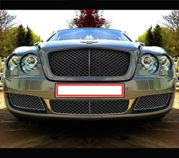 The Osbournes New Bentley Flying Spur: Bentley Continental Flying Spur 4D Front Lower Mesh Bumper