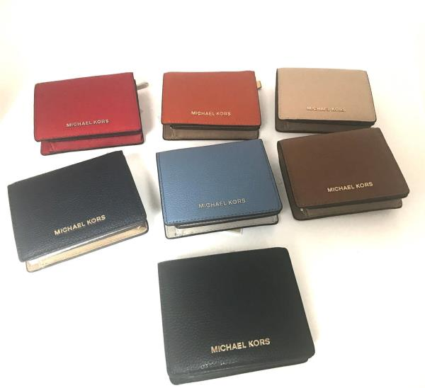 a3dff50f4623 Details about New Authentic Michael Kors Wallet Carryall Card Case Leather