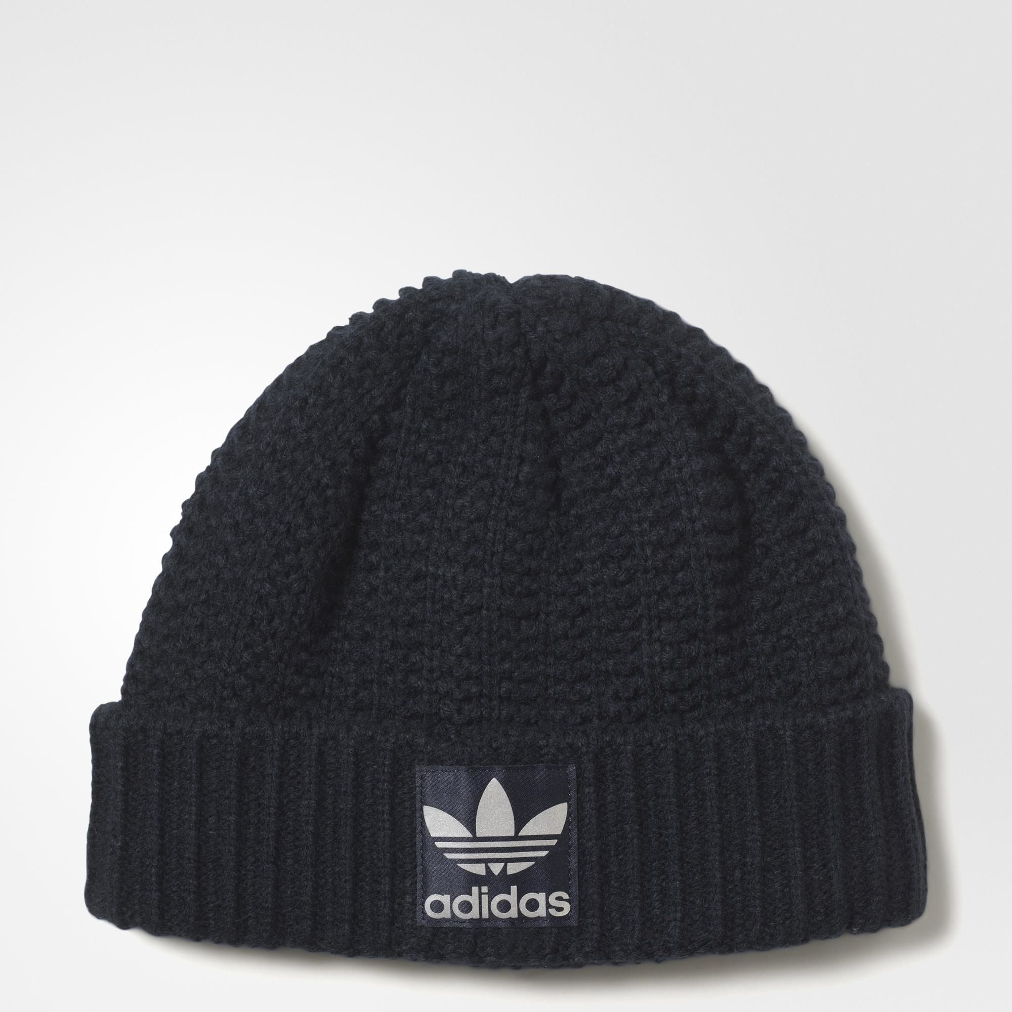 adidas Originals Womens Heavy Knit Trefoil Beanie Winter Hat ... d300689b49d