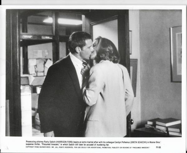 8x10 Hollywood Movie Pic For Presumed Innocent With Harrison Ford #11