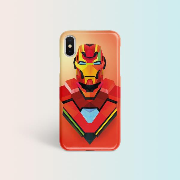 finest selection c5ef2 96a25 Details about Iron Man Case For iPhone X Marvel Full Wrap Abstract Cover  iPhone 6 6s 7 8 Plus