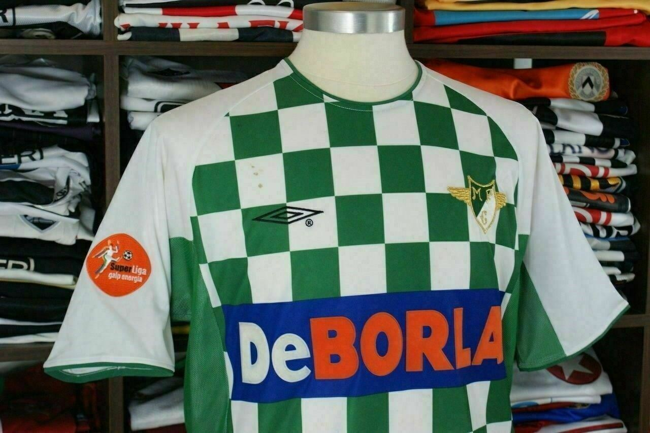5ed11f7c7b54ed Details about MOREIRENSE home 2003/05 Match Worn shirt -SENA  #5-Portugal-Camisola-Jersey-Umbro