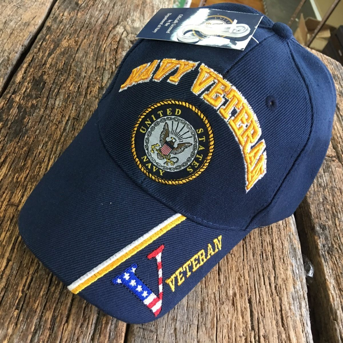 Details about BLUE US Navy VETERAN LICENESED Embroidered Ball Cap Baseball  Cap Hat U.S. Navy 883cda5fe06