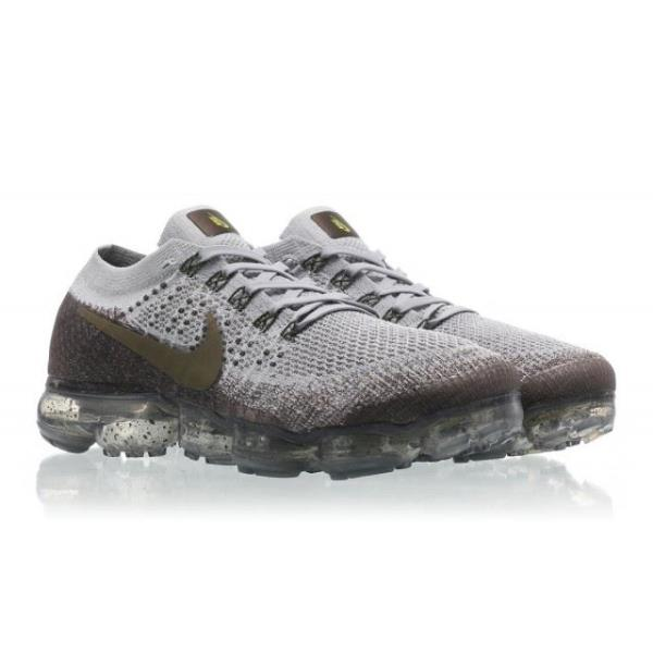 Nike AIR VAPORMAX FLYKNIT Wolf Grey Olive Size 7 8 9 10 11 Mens Shoes