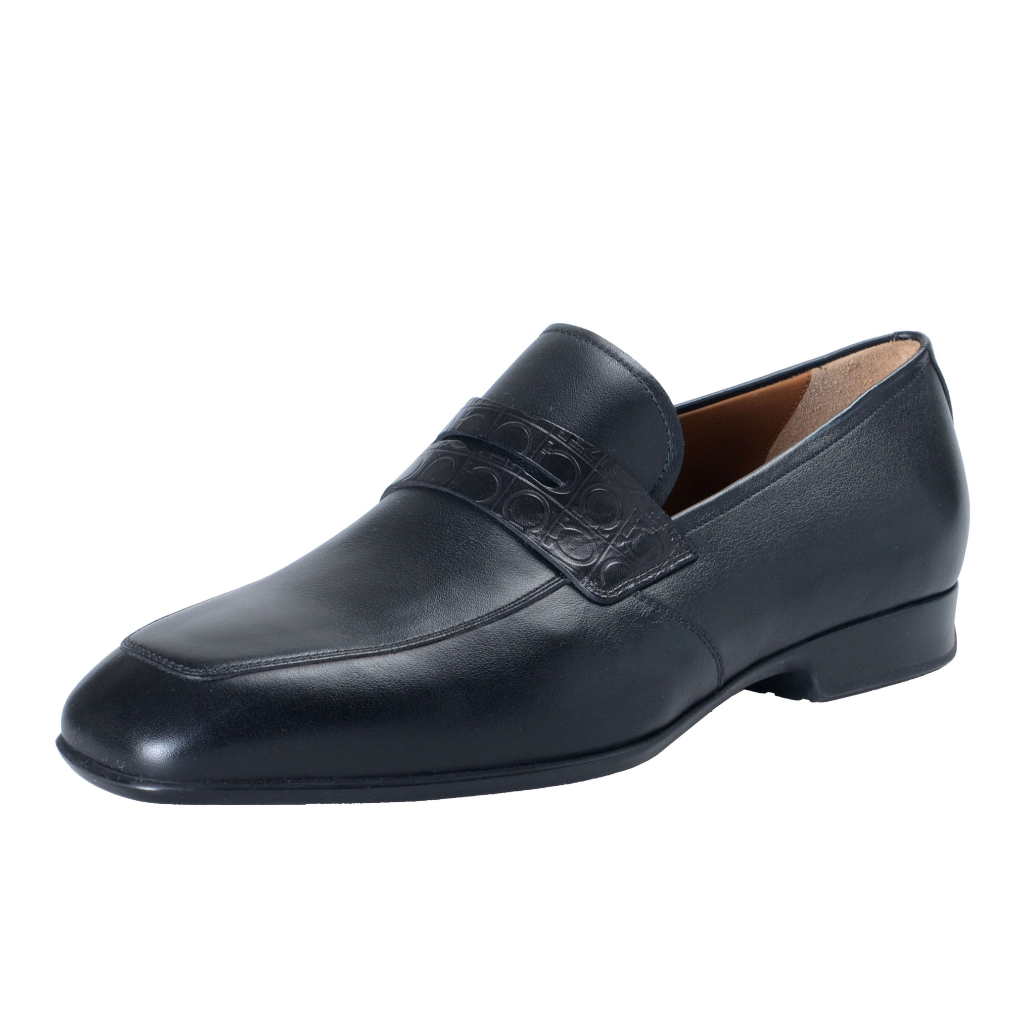 Leather Black Loafers Slip On Shoes