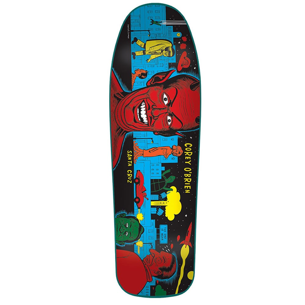Santa Cruz Skateboards Deck Corey O'Brien 9.75 Mutant City Blue Stain Reissue FREE POST NEW