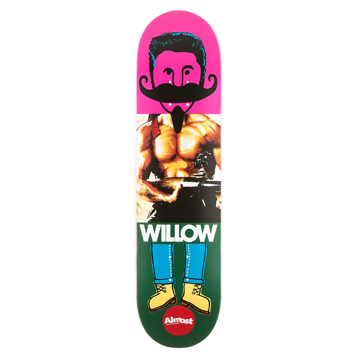Almost Skateboard Deck Willow 8 Remix Dude Impact Light FREE POST FREE GRIP New