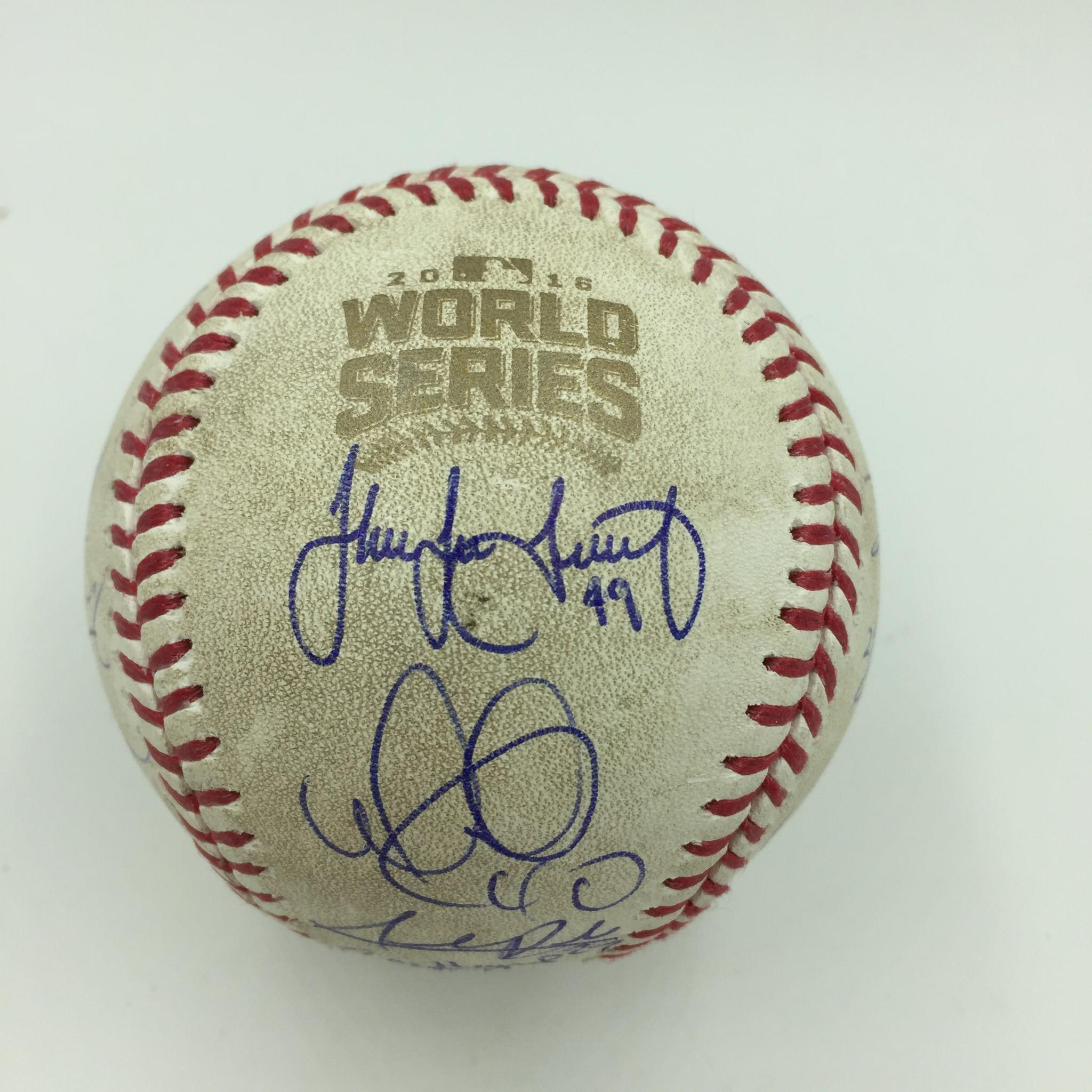 Sports Mem, Cards & Fan Shop Sports Mem, Cards & Fan Shop John Lackey Autographed Signed 2016 World Series Baseball Ball Beckett Bas Coa Buy One Give One