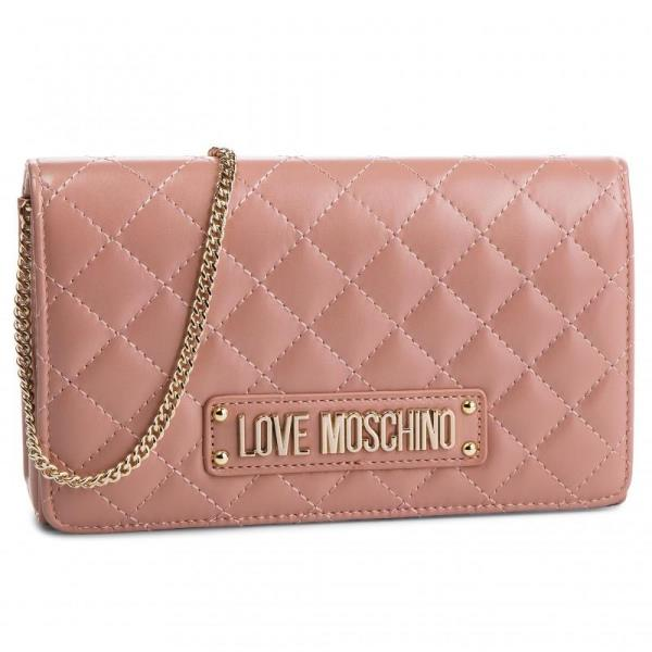 551dab4ea3 EVENING BAG TRAPUNTATA CON LOGO rosa love Moschino | eBay