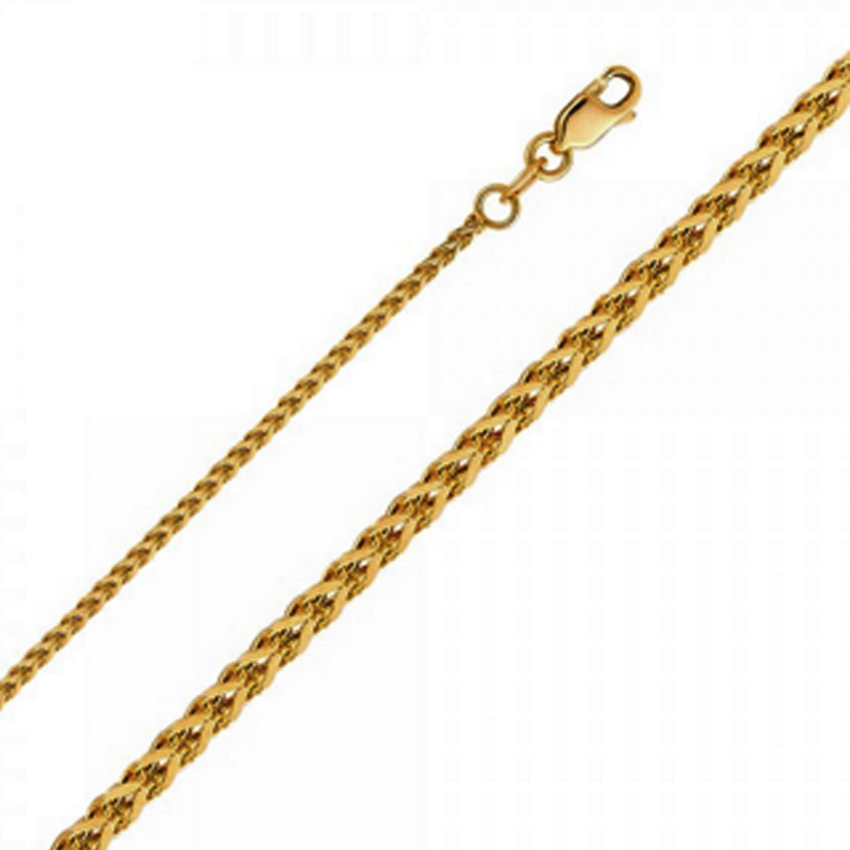 b499d298fbf0f Details about Rounded Box Links Real 14k Yellow Gold Franco Chain Square  Necklace Solid 1.7mm