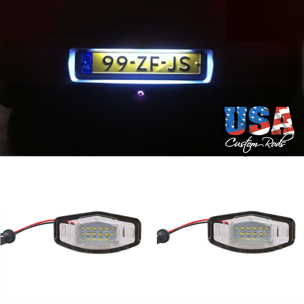Car Led License Number Plate Lights White Bulbs For Honda Accord Crv 1999 Custom Acura Mdx