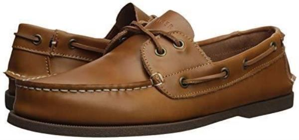 33e2a576e Details about Tommy Hilfiger Men s Bowman Boat shoe Brown Leather Bouts  Shoes