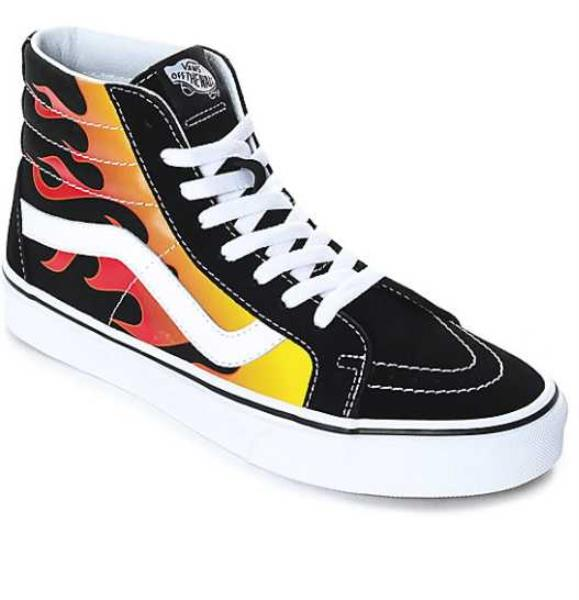 8ae0c383f2 Details about NEW IN BOX MEN S 6 7 10.5 12 13 VANS SK8-HI REISSUE FLAME  BLACK SKATE SHOES