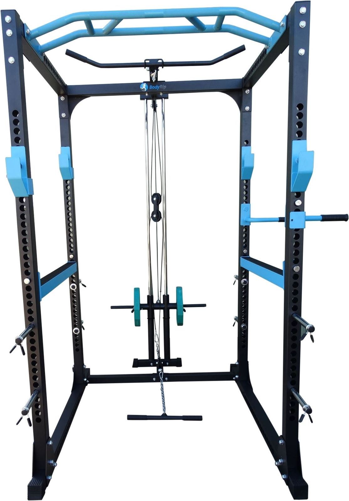 Bodyrip Pro Power Rack Amp Lat Pull Down Squat Cage Row