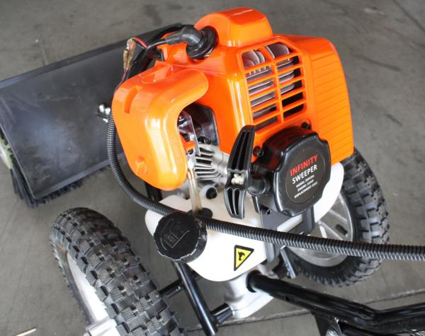 Two Wheel Push 52cc Snow Sweeper Driveway Cleaner