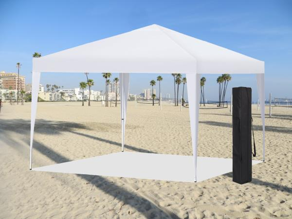 10ft x 10ft White EZ pop up Canopy Tent White & Easy Pop Up Instant Canopy Party Event Shelter Beach Tent 10u0027x10 ...