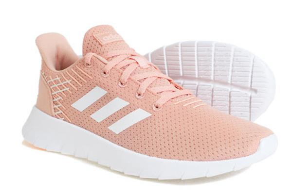 Details about Adidas Women ASWEERUN Shoes Running Pink White Casual Sneakers Boot Shoe F36733