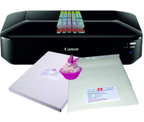 picture about Edible Printable Paper titled Info in excess of Edible A3 Printer Deal, Pre-stuffed edible ink Cartridges, Wafer Icing Paper