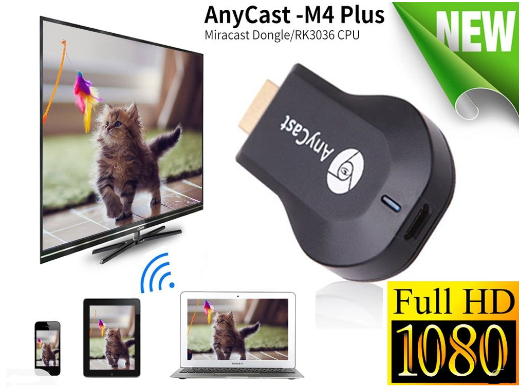 Details about Anycast M4 Plus Chromecast HD 1080P TV Stick Wireless WiFi  Display Dongle IOs