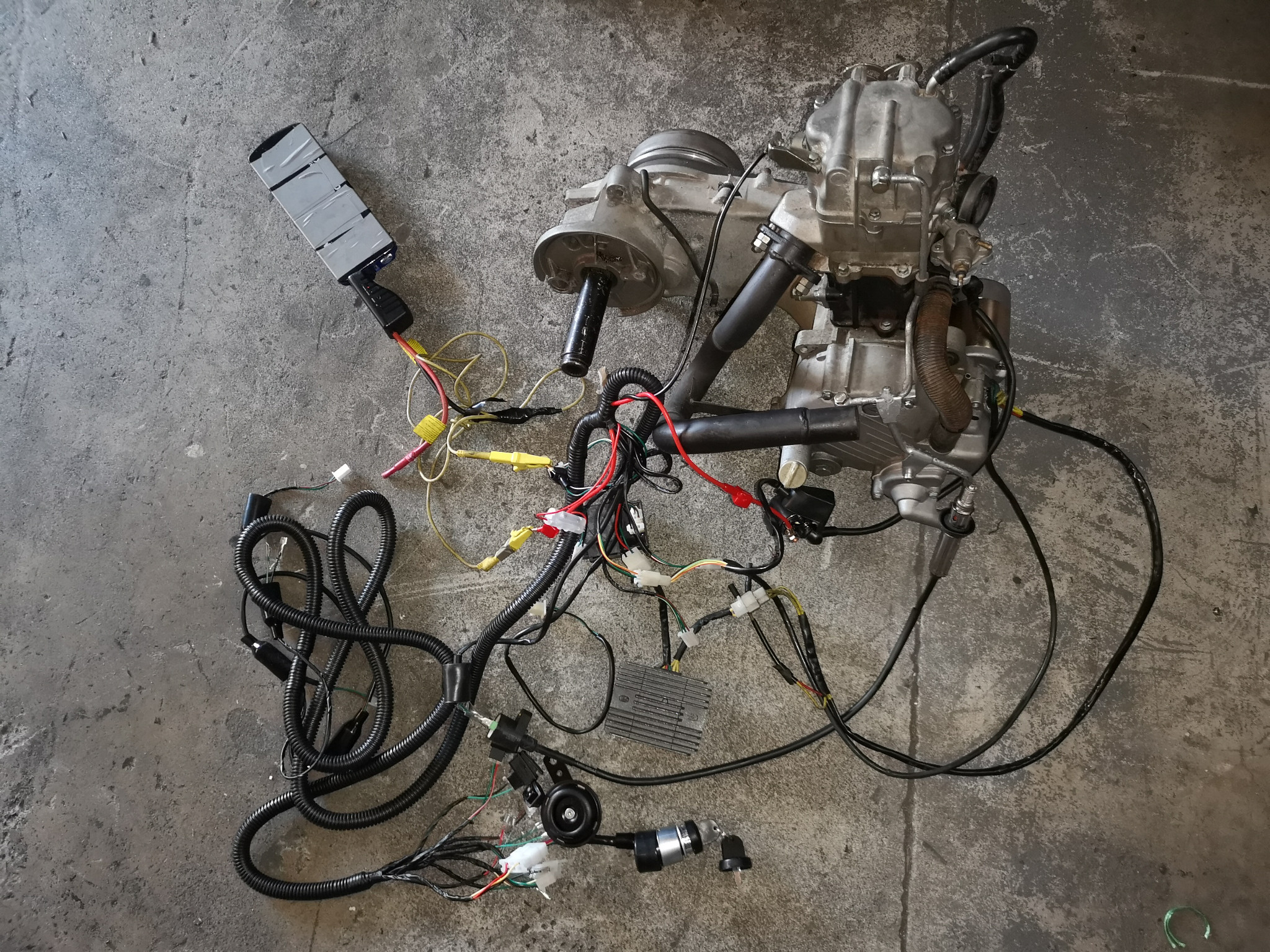 Cf250 Gy6 250cc Kandi Kinroad Buggy Complete Wiring Loom Harness Wire Components