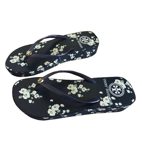 ca8b0de67ab462 White Flower Wedge New TORY BURCH Flip Flops Flat Flop Beach Sandals Summer