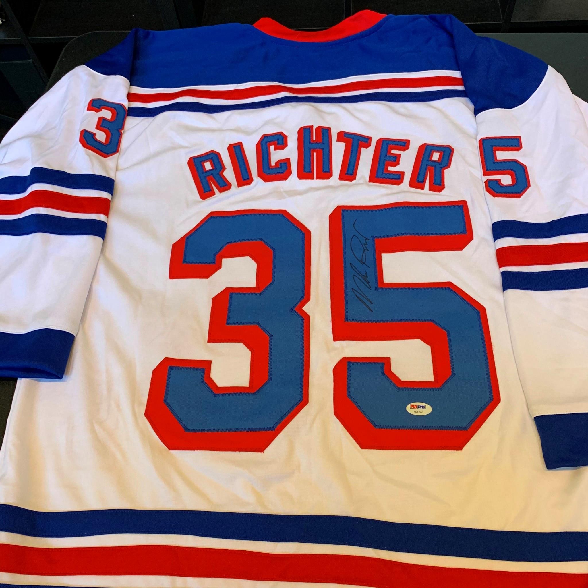 new styles a689f b7ee8 Details about Mike Richter Signed New York Rangers Hockey Jersey PSA DNA  Sticker