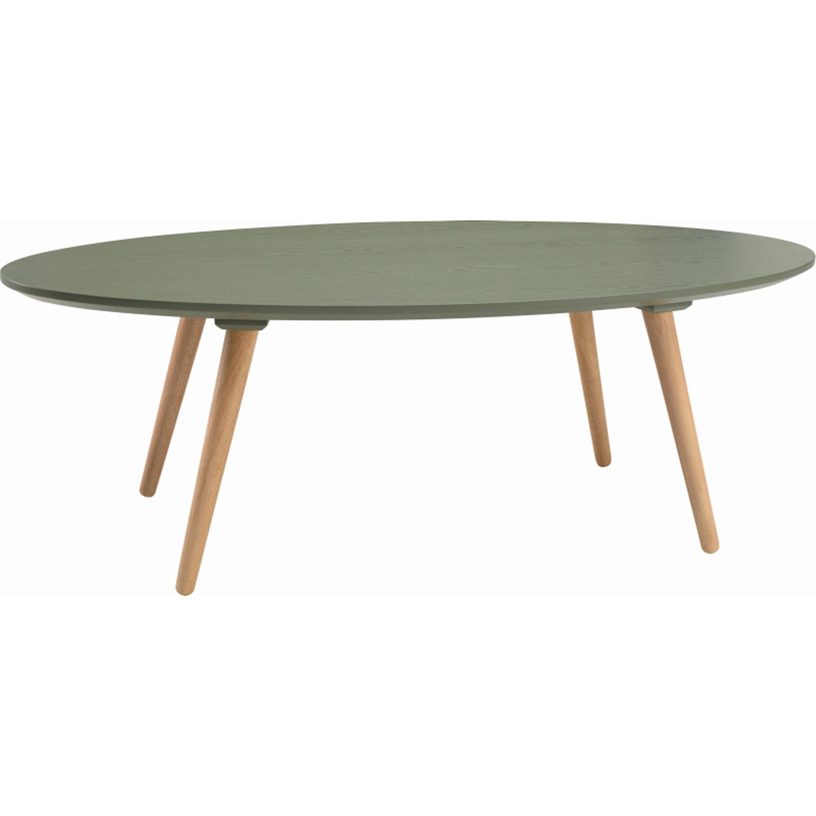 Details about carsyn oval coffee table in pickle green