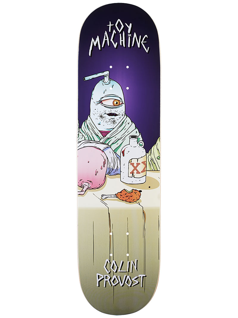 Toy Machine Skateboard Deck Provost Last Supper 8.25 Pro 1 of 8 FREE POST & FREE GRIP
