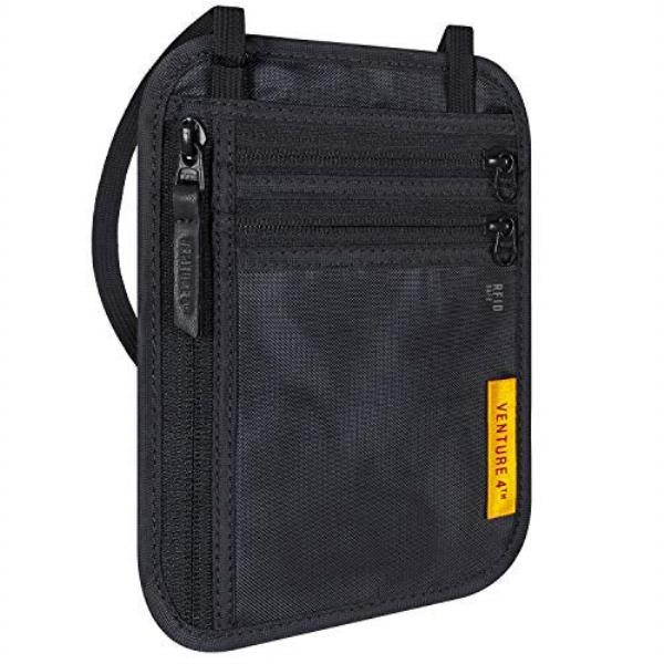 357d3c568e3a Details about VENTURE 4TH Travel Wallet | RFID Passport Holder | Security  Neck Pouch