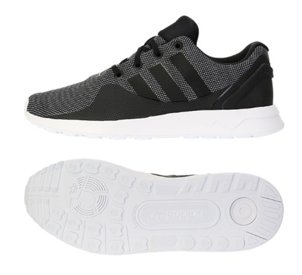 huge selection of 7c58e e5771 Adidas Men Originals ZX Flux ADV Tech Shoes Running Black Sneakers ...