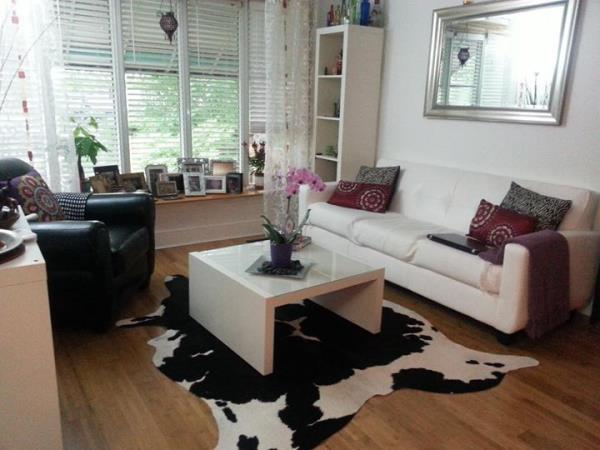 Black Amp White Cowhide Rug Hair On Hide Cow Skin Leather
