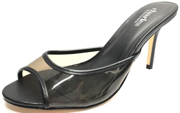 Women's Shoes Charles By Charles David Idyll Heels Pumps Black Leather Size 7.5M