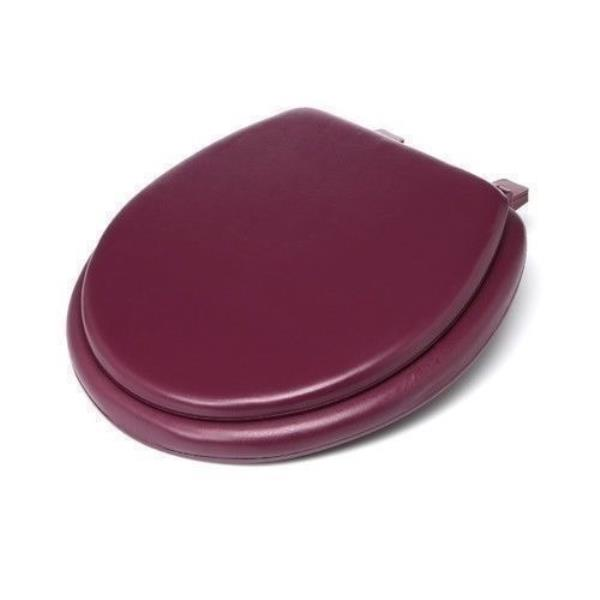 Pleasing Details About Burgundy Soft Padded Toilet Seat Premium Cushioned Standard Round Cover Comfort Theyellowbook Wood Chair Design Ideas Theyellowbookinfo