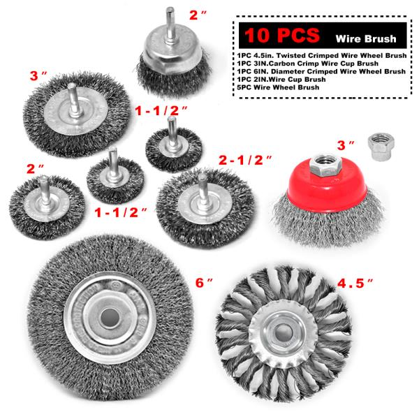 2pcs Twist Knot Wire Wheels Brushes Steel Heavy Duty Rust Paint Removal Tool