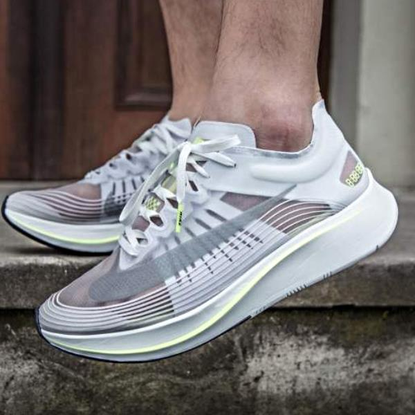 2ca6ca6cde3 Details about Nike Zoom Fly SP White Volt Size 7 8 9 10 11 12 Mens Shoes  Runners air 4% jordan