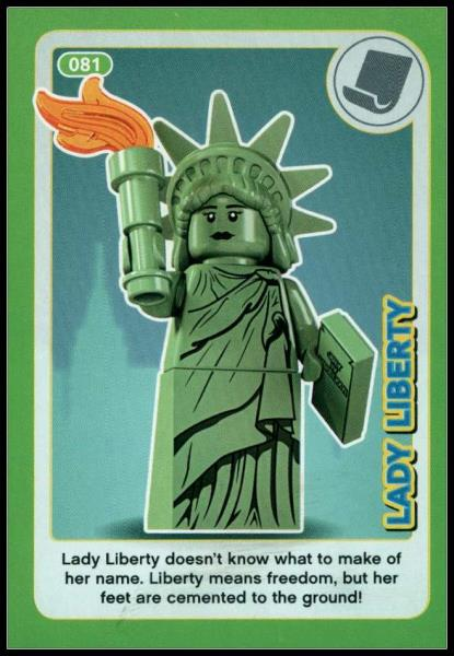 2018 Lego Incredible Inventions Create Card Lady Liberty # 081