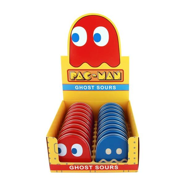 Pac-Man Video Game Ghost Shaped Candy in Blinky Metal Tins Set of Two SEALED