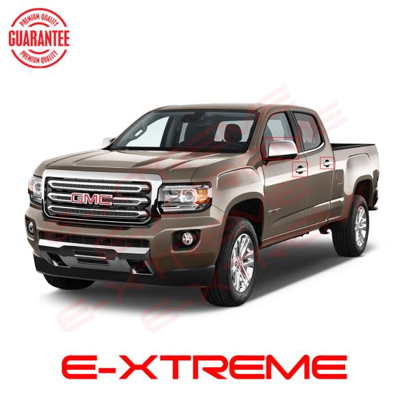 Door Handles For GMC Canyon 2015 16 17 18 Half Mirrors Chrome Covers Tailgate