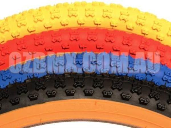 Panaracer Tyres BMX Package Dominator Seat /& AME Round Grips in Red