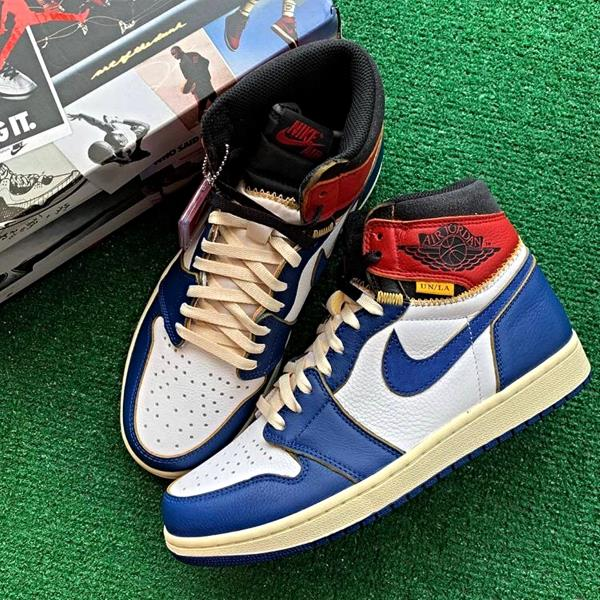 purchase cheap cb5ba 837a0 Details about Nike Air Jordan 1 High x Union Red Blue Size 7 8 9 10 11 12  Men New BV1300-146