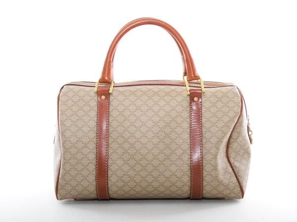411db2b0f4 Details about Authentic Celine PVC Brown leather Boston travel hand bag