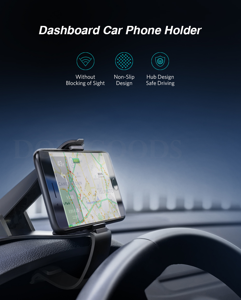 Ugreen Universal Car Dashboard Cell Phone Mount Holder Clip On For Your Mobile