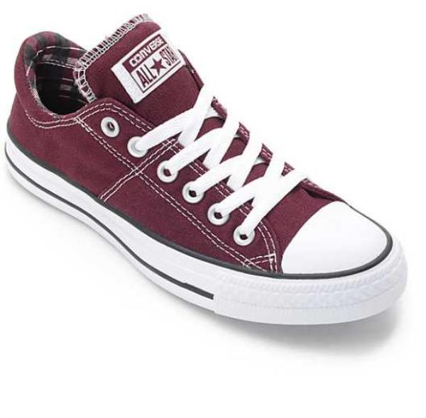 3615b1eb5ec Details about NEW WOMEN S 6.5 8.5 CONVERSE CHUCK TAYLOR ALL STAR MADISON  BURGUNDY SKATE SHOES